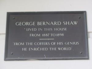 Bernard Shaw plaque