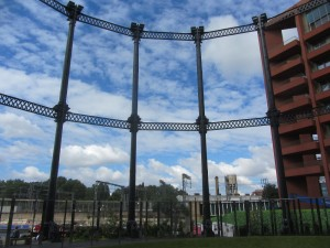 Gas Holders Silhouette